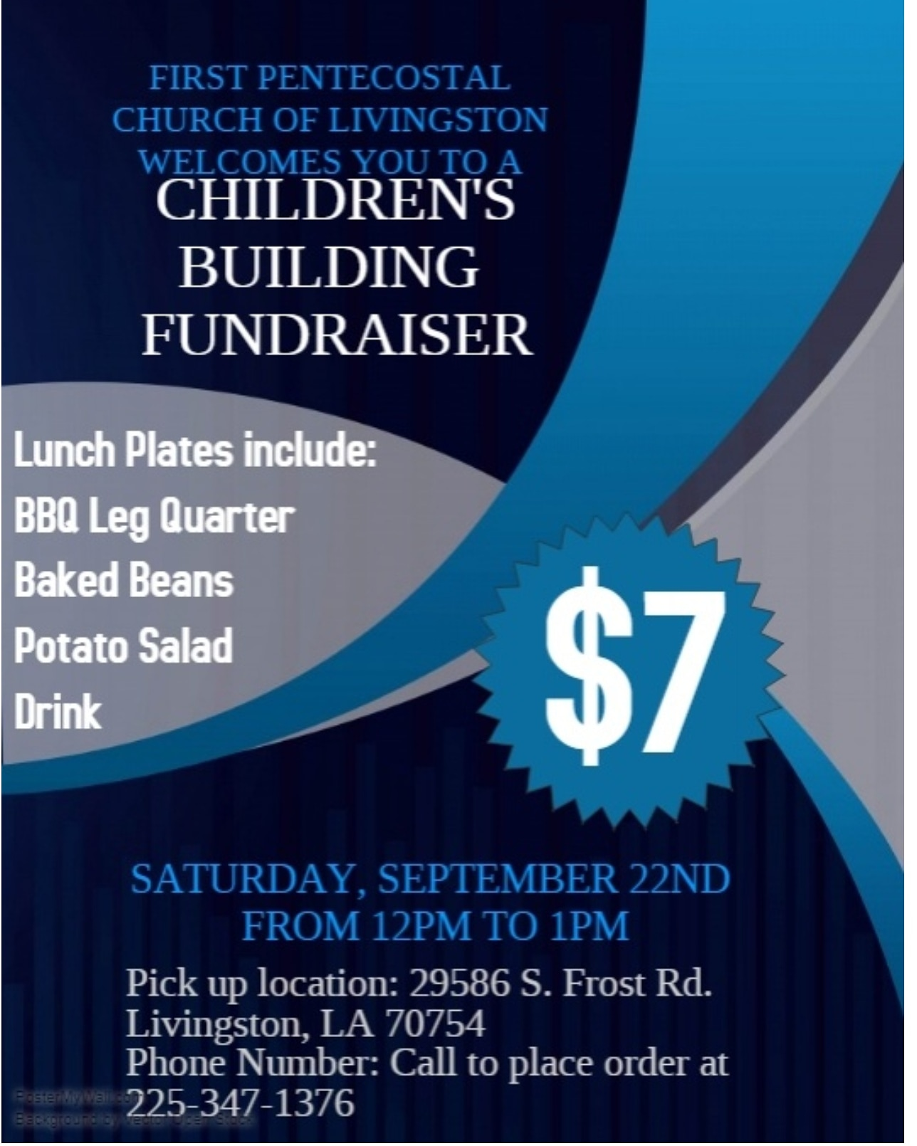 Children's Building Fundraiser Sept 22nd